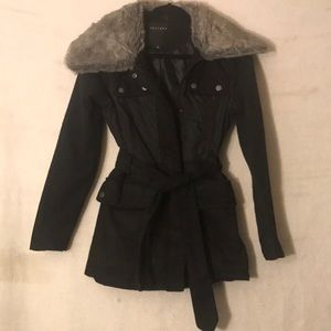 Black Winter Coat by Therapy